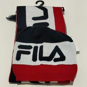 Fila hat and scarf set